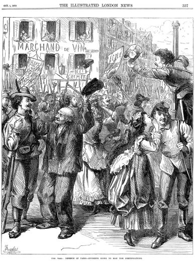 https://en.wikipedia.org/wiki/Siege_of_Paris_(1870%E2%80%9371)#/media/File:Franco-Prussian_War_-_Students_Going_to_Man_the_Barricades_-_Illustrated_London_News_Oct_1_1870.jpg